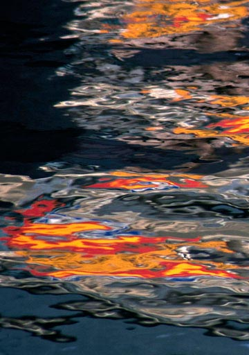 Abstract water reflection photo by Noella Ballenger