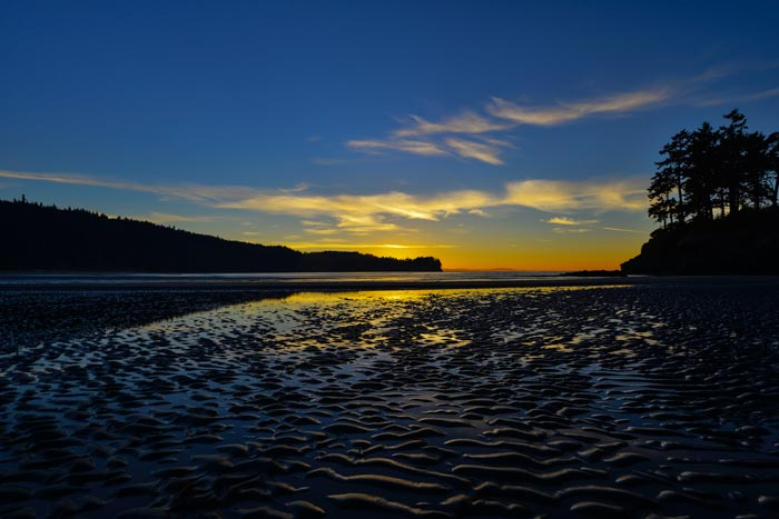 Sunset photo of Tongue Point at Salt Creek Recreation Area in Olympic Peninsula, Washington by Michael Leggero