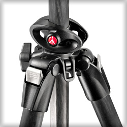 Photo of leg angle locking buttons on Manfrotto 4 Section, 055 Carbon Fiber Tripod-Q90 by Manfrotto