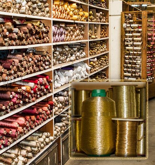 Photo of yarn storage bins at West Coast Trimming by Noella Ballenger