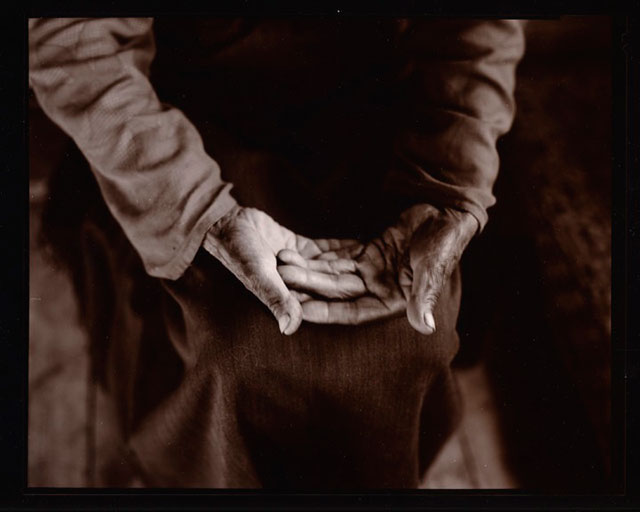 Black and white photo of Open Oracle Hands, Ladakh, India by Linda Connor.