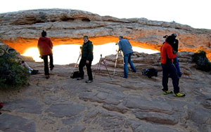 Copyright © Clifford Kolber   Mesa Arch - 10 minutes after sunrise.