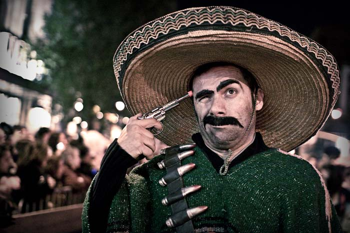 Photo of man as a Bandido for Halloween by Oliver Fluck