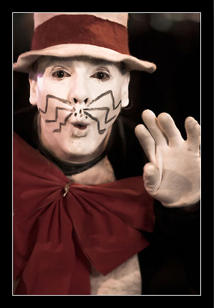 Photo of man as Cat in the Hat for Halloween by Oliver Fluck