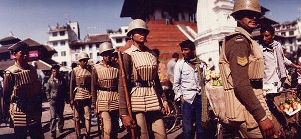 Photo of Nepalese policemen by Ron Veto