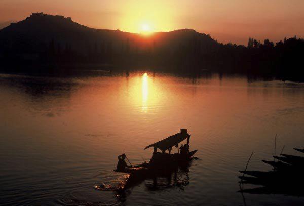 Photo of sunset at Dal Lake, Kashmir, India by Ron Veto