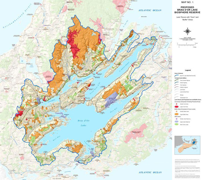 Image of Bras d'Or Lakes Biosphere map