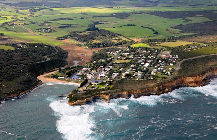 The Great Ocean Road photography  - Photo from a helicopter of Port Campbell, Australia by Cliff Kolber