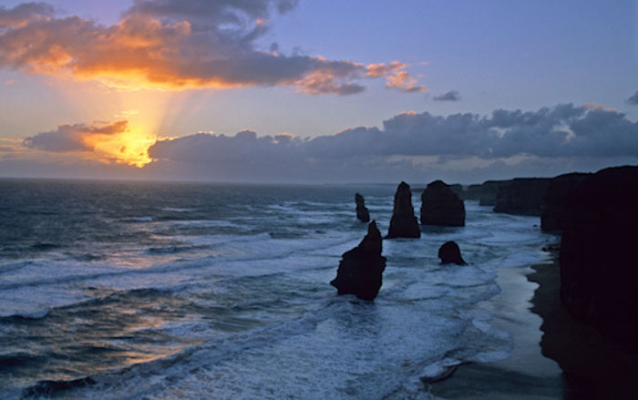 Photo of Twelve Apostles at sunset on the Great Ocean Road, Australia by Doris Kolber