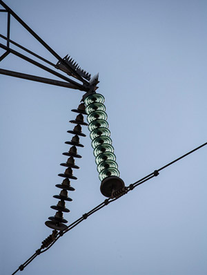 Photo of high tension electrical wire by Noella Ballenger