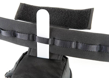 Photo of plastic tongue on modular pouch being loaded on Pro Speed Belt by Think Tank Photo