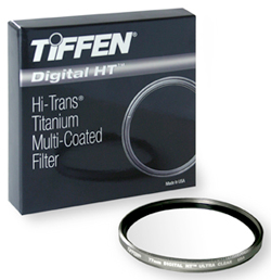 Image of box and filter - Tiffen Digital HT (Hi-Trans) Titanium Multi-Coated Filter by Tiffen