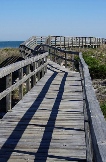 Photo of boardwalk at Little Talbot Island, Florida using Tiffen Neutral Density 0.6 filter by Marla Meier