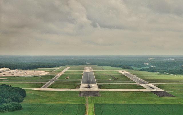 Aerial photo of Runway 23L at NAS Oceana, Virginia by Allen Moore.