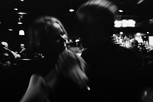 Black and white action photo portrait of couple by Monica von Stackelberg