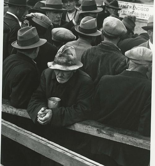 """White Angel Breadline,"" San Francisco, California, 1933, as seen in ""American Masters – Dorothea Lange: Grab a Hunk of Lightning."" Photo Credit: Dorothea Lange, 1933"
