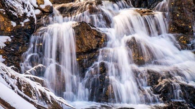 waterfall in the High Sierras