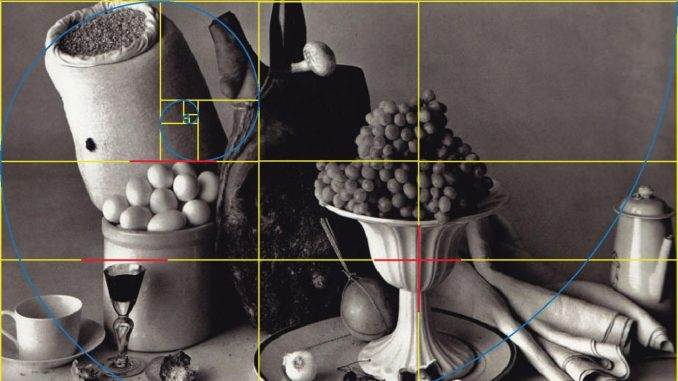 """A """"still life"""" Exalting the Golden Harmonies with the grapes and chalice at prominent golden cuts."""