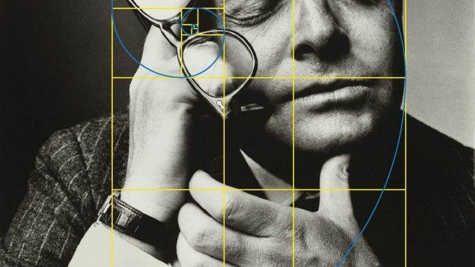 Truman Capote framed in a Golden Rectangle
