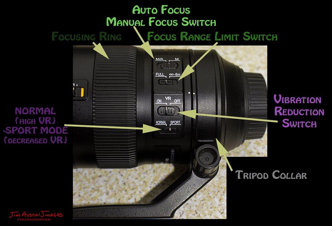 Nikon zoom 200 500 ED VR Control Switches Jimagesdotcom Apogee