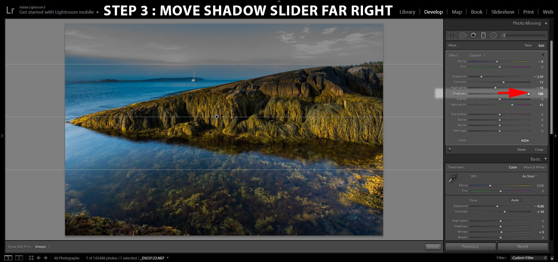 3 Shadow Slider Far Right Laney Island