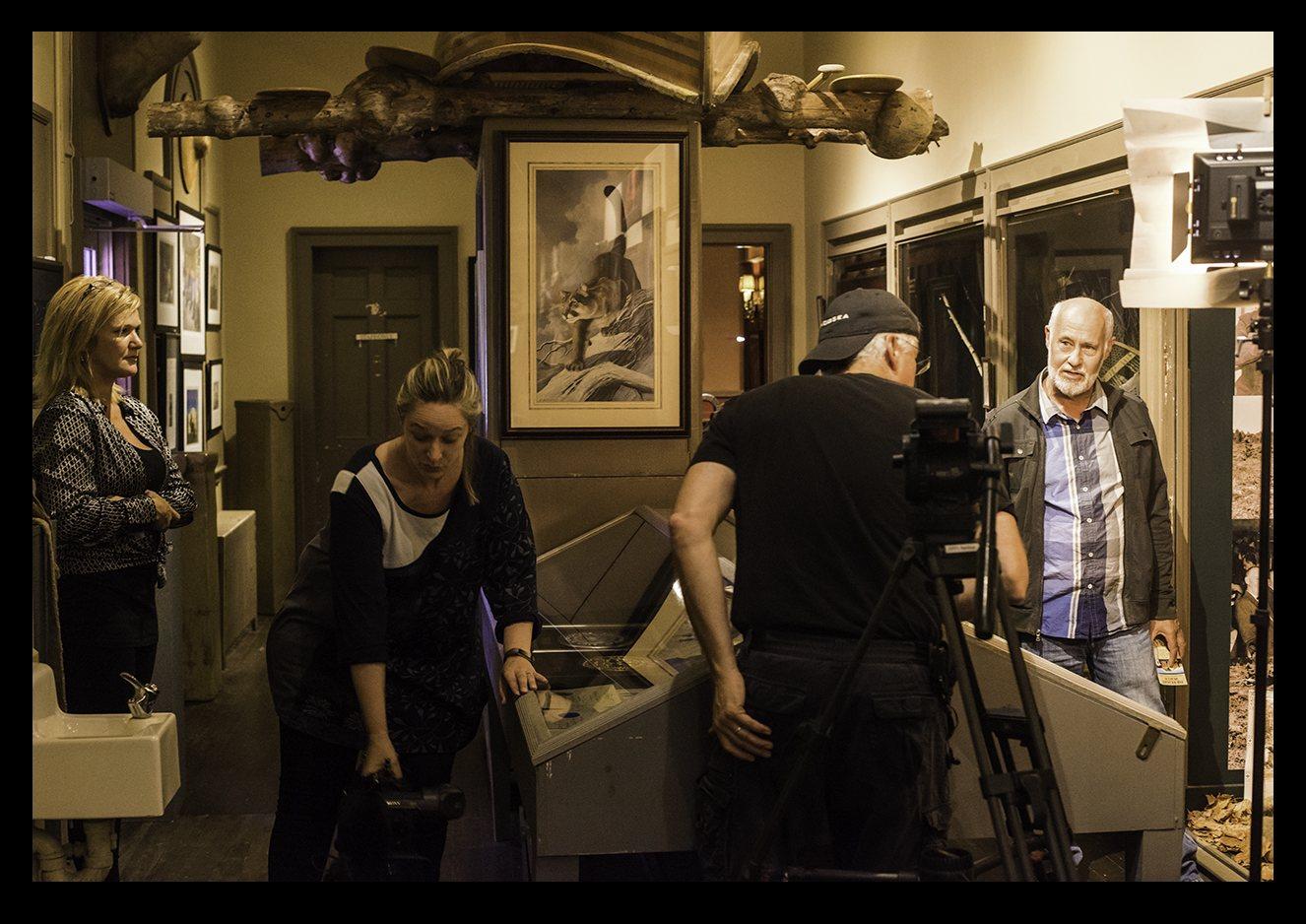 CBC Film Crew Interviewing Warren