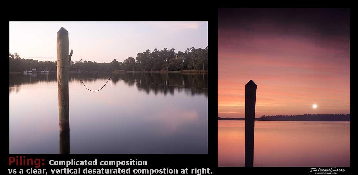 Dock-Piling-Fall-Simplify-Composition-Jimagesdotcom