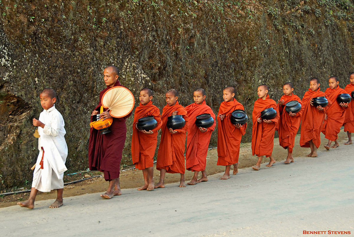 myanmar monks alms