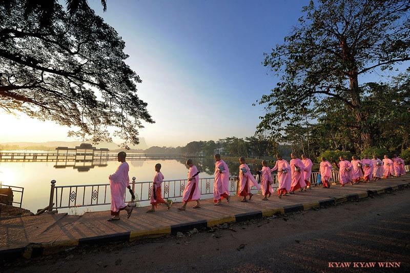 myanmar nuns alms