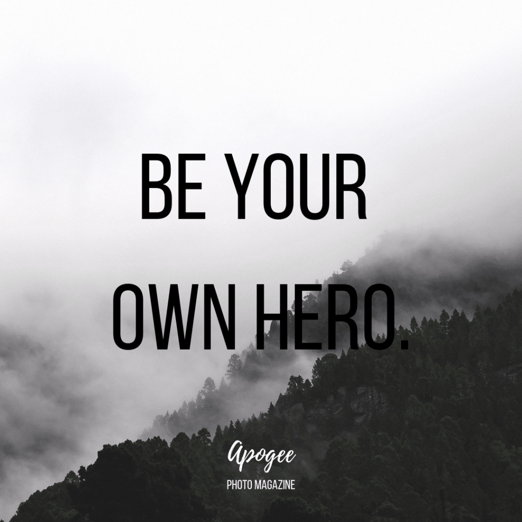be your own here inspirational quote