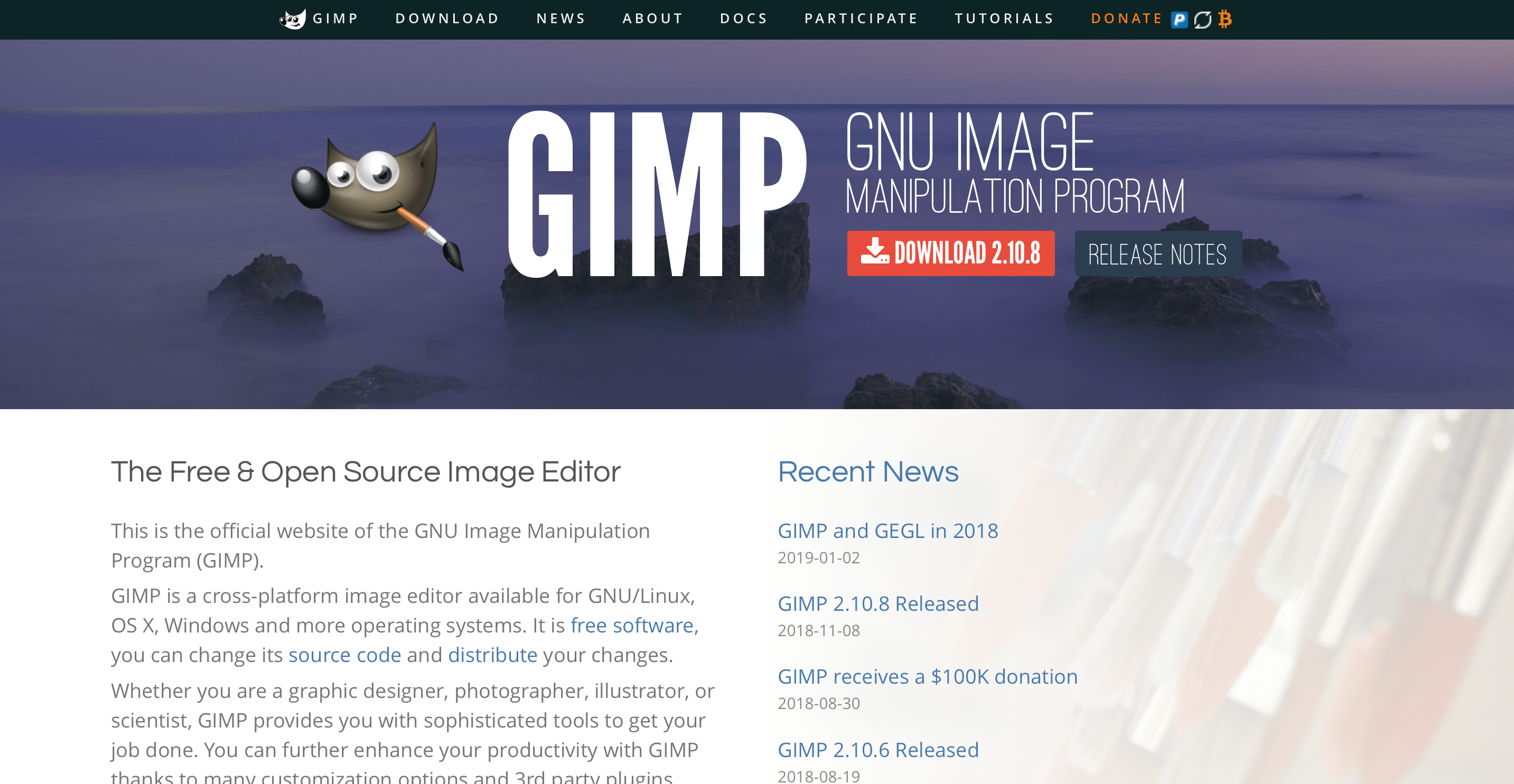 gimp best photo editing software