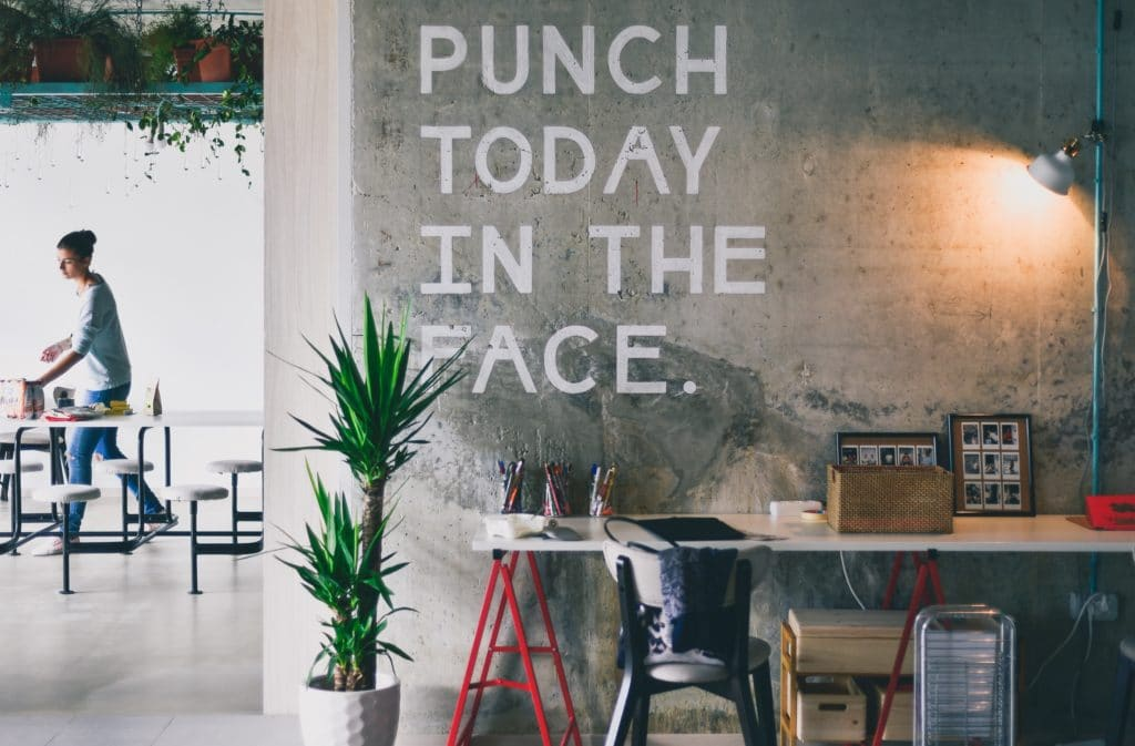 punch today in the face inspirational quote