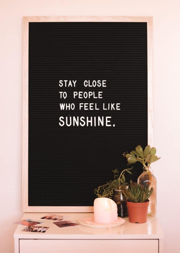 sunshine inspirational quote