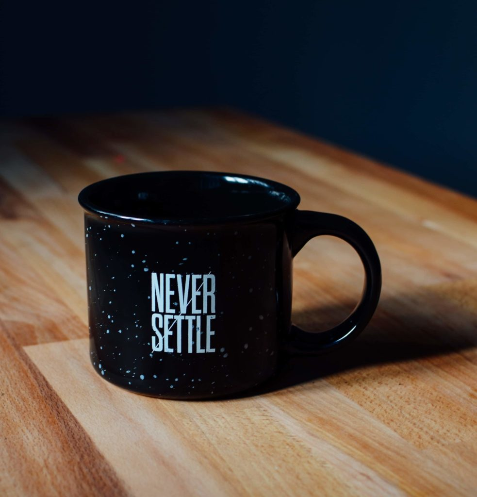 never settle inspirational picture